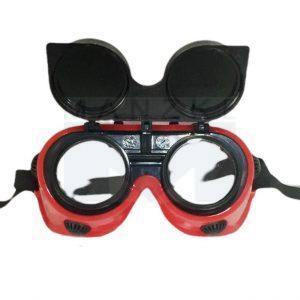 Schutzbrille klappbar, Kunststoff rot