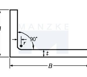 Winkelprofil Stahl S235JR – ungleichschenklig, rundkantig