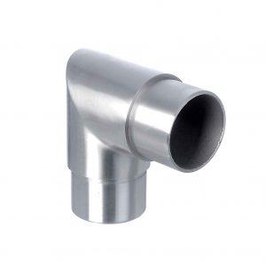 Rohrsteckwinkel V2A 90°, eckig, für Rohr 42,4×2,0mm